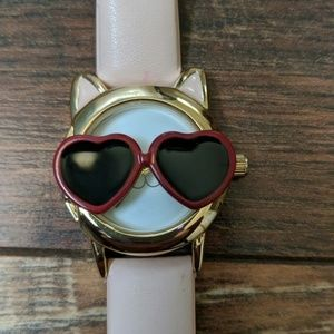 Jewelry - 3/$10 Kitty cat watch with heart sunglasses